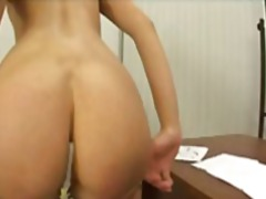 Young blonde european schoolgirl takes toys and a cock in her gaping ass.