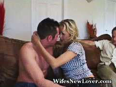 Mature lady fucks new young lover.