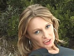 Busty french milf is outside blowing cock and getting ass banged.