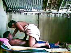 Indian couple on webcam.