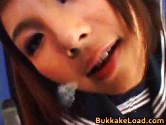 Azumi harusaki hot japanese bukkake part2.