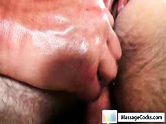 Gay dude gets an oiled up massage and gets his ass toyed with.