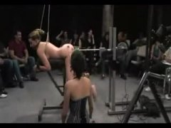 delilah strong long bdsm scene with an audience.