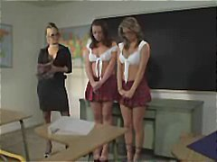 Two schoolgirls are in trouble and get punished in the best way.