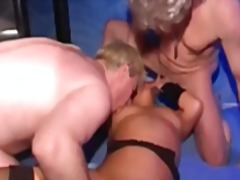 Horny swingers unite sucking and fucking in a hot and steamy group orgy.