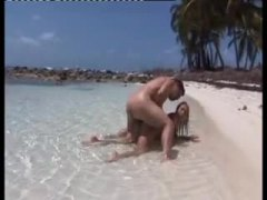 Sex on a beach with his incredibly hot lover.