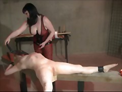Lezdom electro play and whipping.