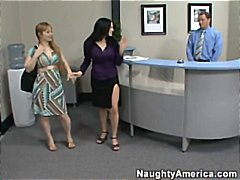 boss's wife catches staff fucking.