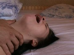 young girl schatz at the first painful try anal.