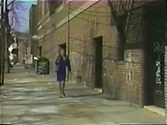 Vintage clip from the flirt with bitches getting pounded hardcore .