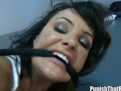 Anal interrogation and deep throat for lisa ann.