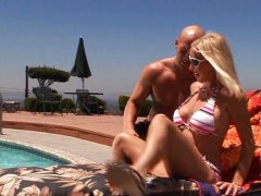 Hot blond milf fucks pool boy.