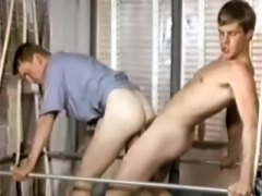 Vintage twink gay oral and anal.