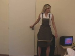 Cute german gril work in hotel.