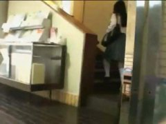 Japanese girl gets accosted in the library and gets fucked.