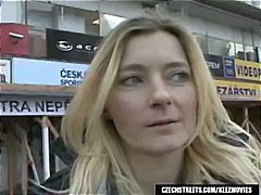 Blonde jitka is picked up on czech streets and gives him a blowjob.