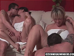 Czech amateurs at biggest swingers party.