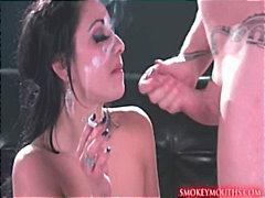 Tags: pornozvaigznes, ejakulēšana sejā, ejakulācijas tuvplāns, fetišs.