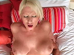 Blondes big tits and big clit fucked.