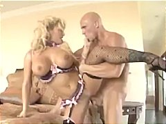 Busty blonde shyla stylez gets drilled hard by this bald dude.