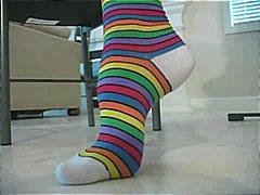 Ознаке: plavuše, fetiš na stopala.