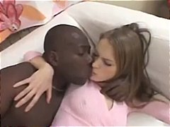 Blonde alice gets herself a black cock to suck on and get fucked by.