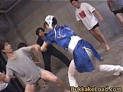 Asuka ohzora cosplay chick in bukkake part6.