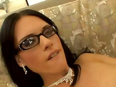 lovely jennifer dark with glasses.