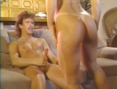 Mustache man makes love to a slut with his big cock.