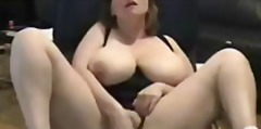 Mature fingering watching a porno. amateur older.