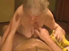 Facial on a very old granny. amateur.