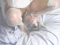 Žymės: dominantė, ant veido, bdsm.
