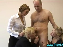 Office sluts blow cfnm cock.