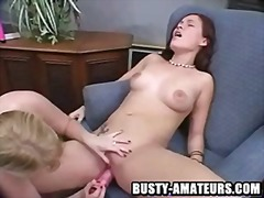 Pussy licking and toying action.