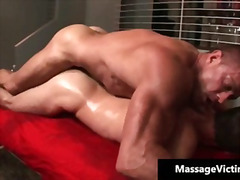 Hot and horny dude gets the massage .