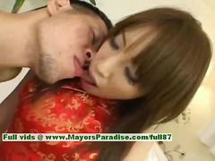Ayane innocent asian girl enjoys a hard core fucking.