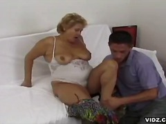 Old cunt stuffed with young studs huge cock.