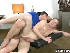 Stud shoves his cock in the ass of a sleeping man.
