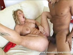 Hot momma aline getting pussy hammered with shane's huge cock.