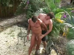 Welcome to paradise! lee and stone are on a desert island and ready to grease up their giant muscles and hot throbbing cocks. watch their glutes flex and stretch as oi....