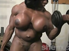 Ebony female muscle.