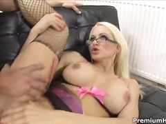 Stacy silver is amazing in her fisnets.