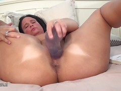 Big tited mature chick squirts like the firehose.
