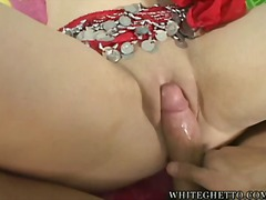Sexy indi gets a fat dick inside her tight hindu pussy.