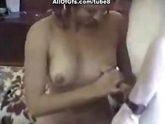 Very hairy pussy gets missionary fuck.