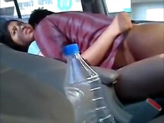 Indian females gets fucked inside a back seat.