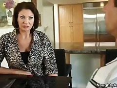 vanessa videl is a hot cougar that gets her pussy licked by hung handyman.