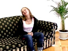 Perverse russian young charmer becky undressing for you onto the sofa.