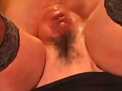 Extreme insertion - a head inside my vagina .