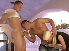 Hot and sexy bisexual mmf european threesomes.